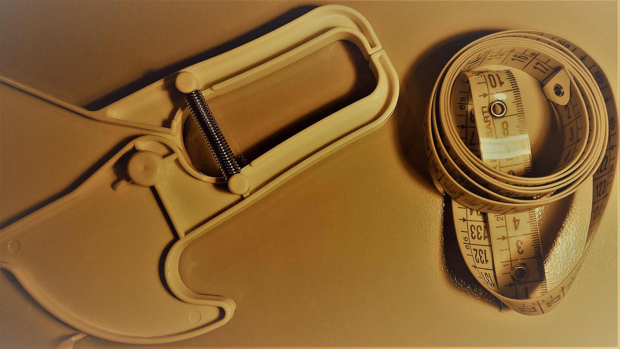plicometro di plastica