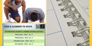 Scheda di allenamento per neofiti, la guida