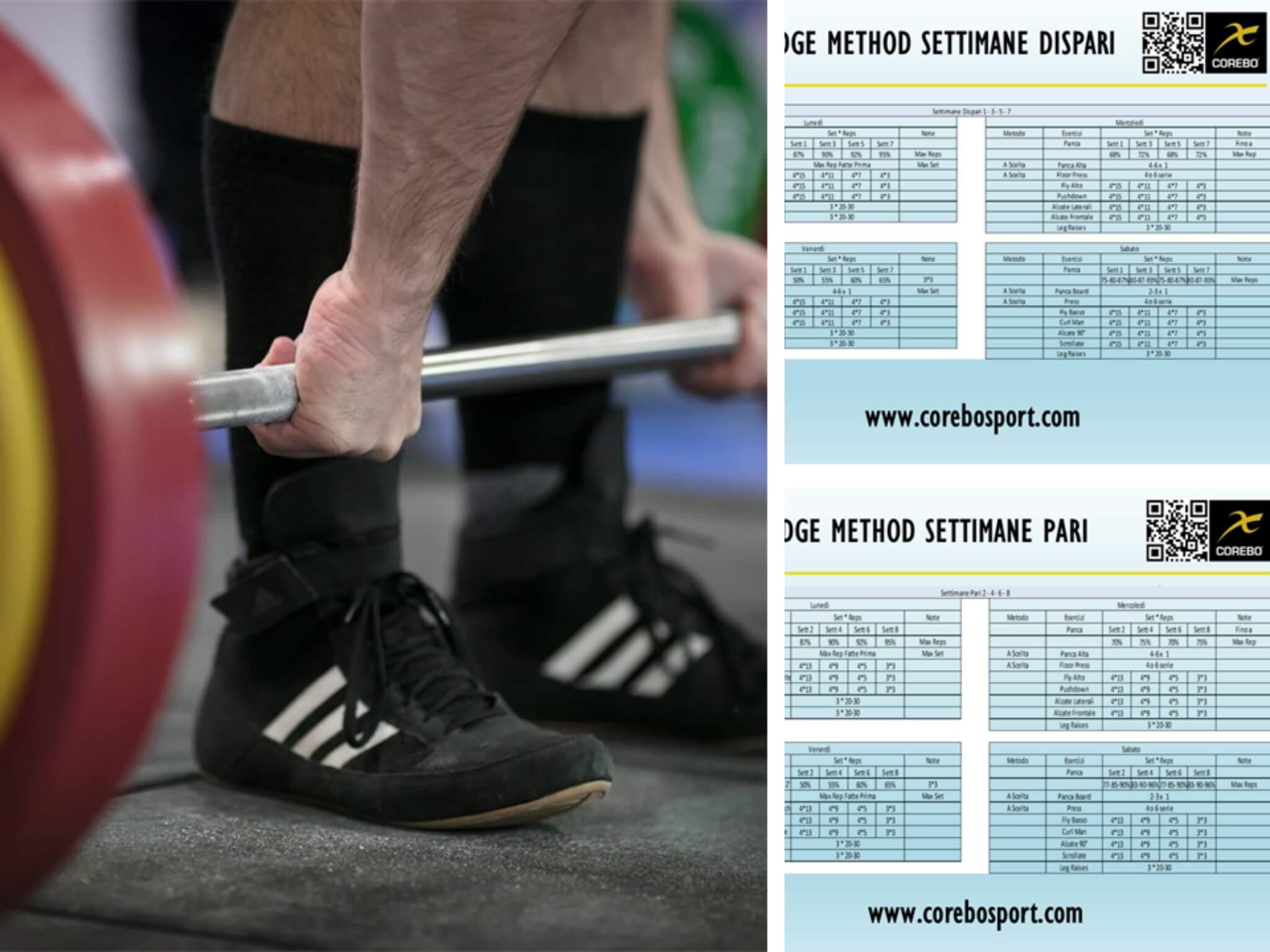 scheda di allenamento per il powerlifting