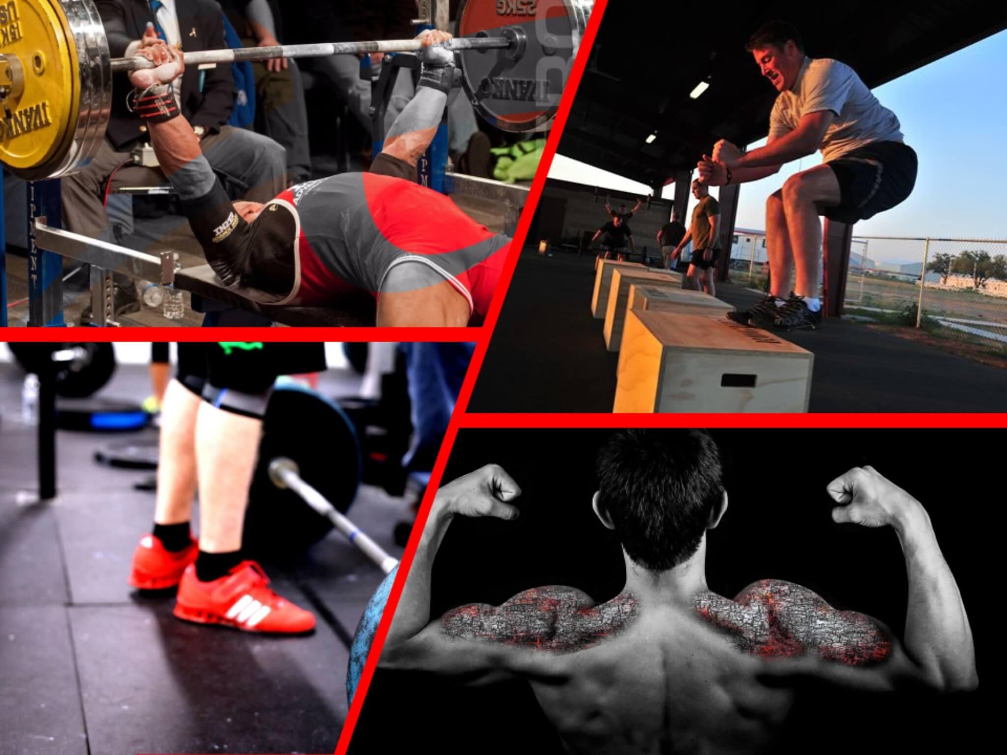 atleta forte o potente