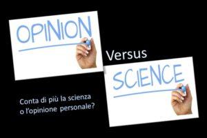 Copertina opinione e scienza