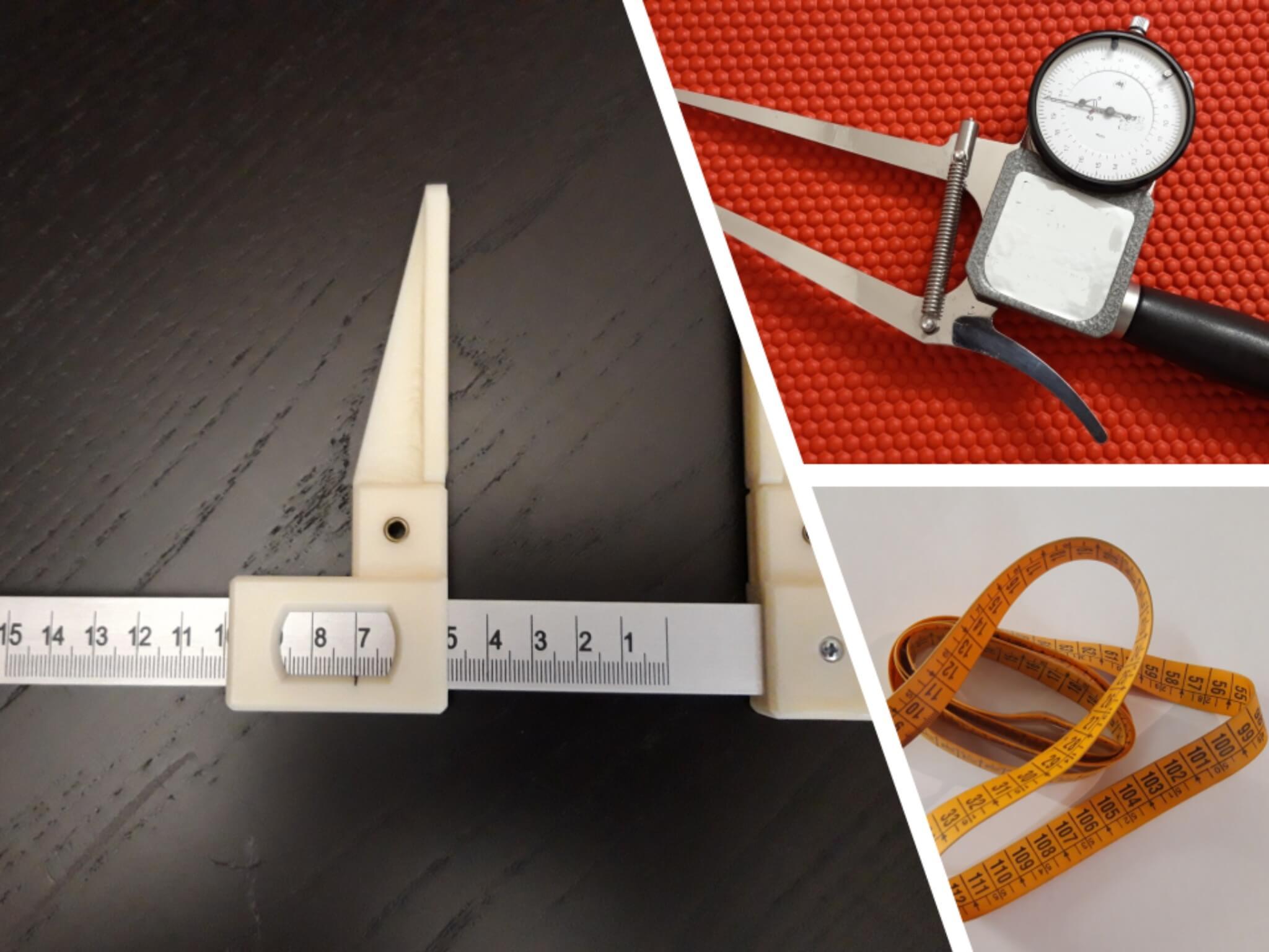 Plicometro metro e calibro