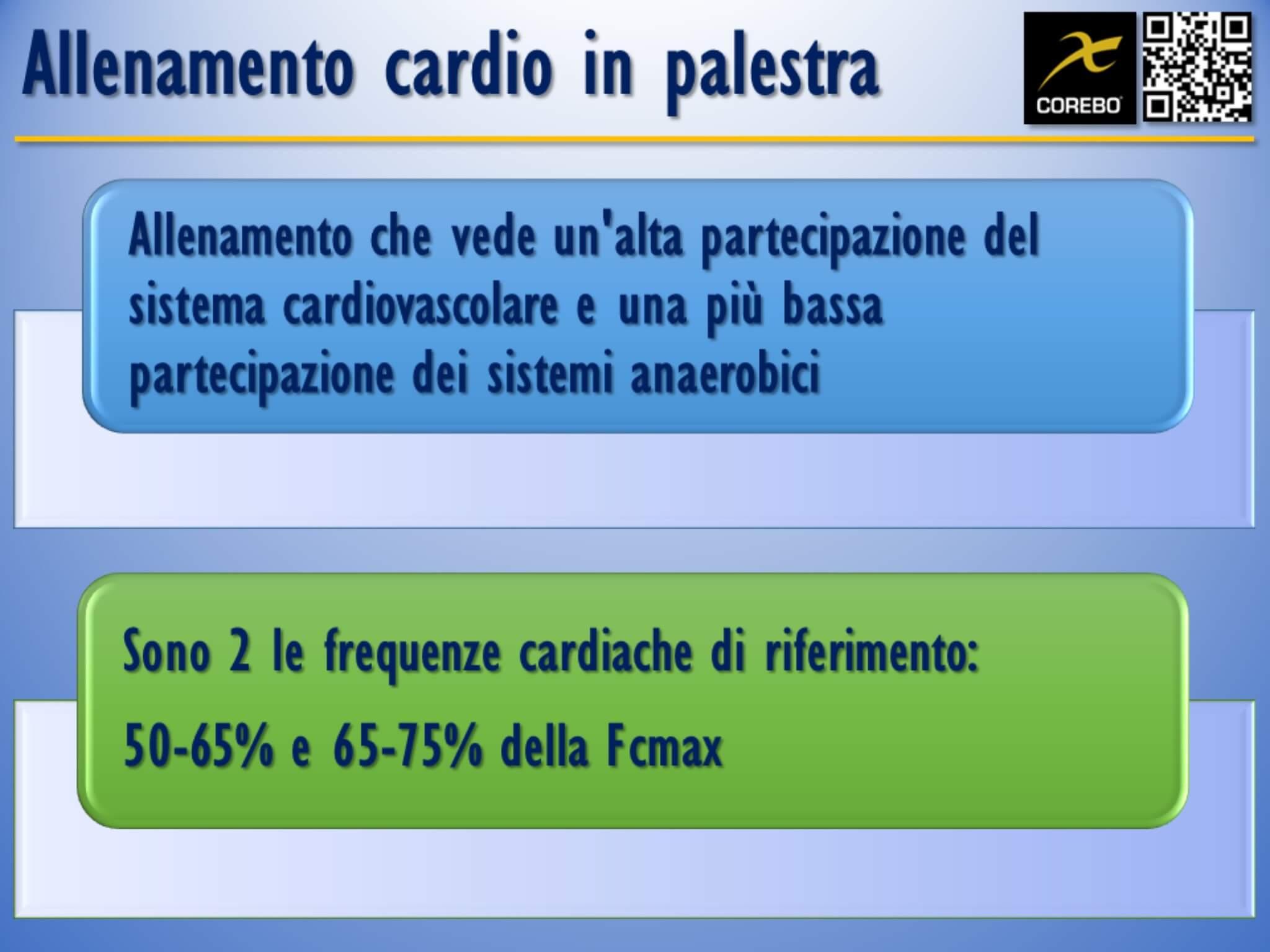 allenamento cardio in palestra