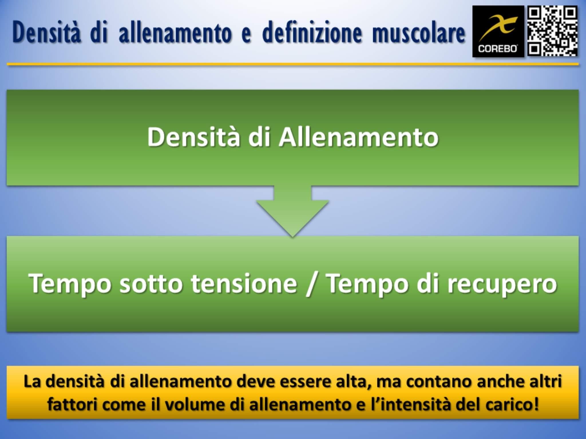 scheda allenamento palestra per la definizione muscolare