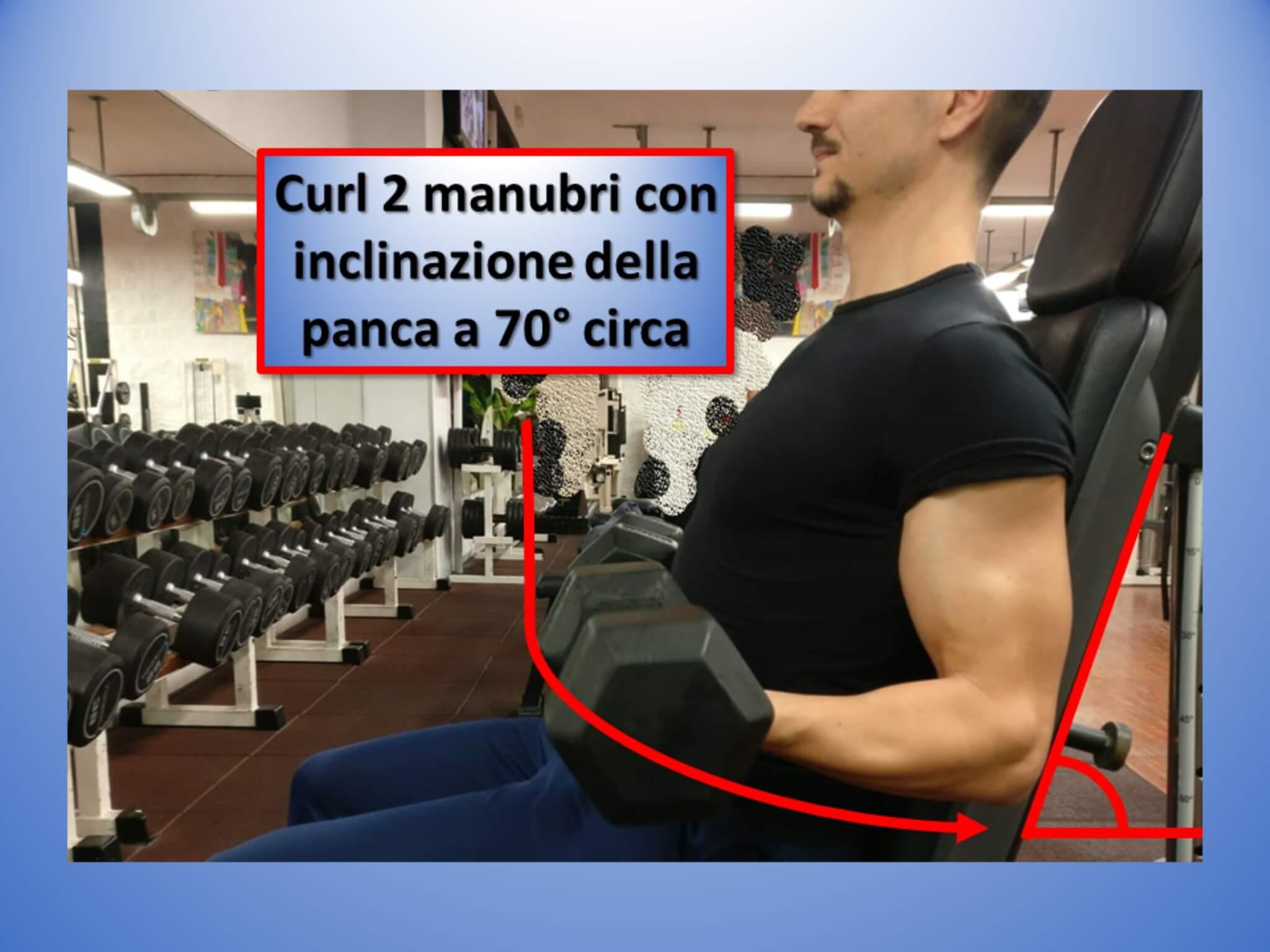 scheda allenamento braccia