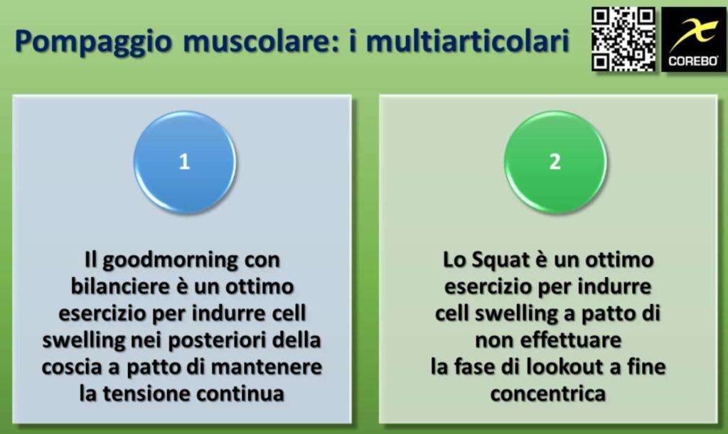 Gli esercizi multiarticolari per il pump muscolare
