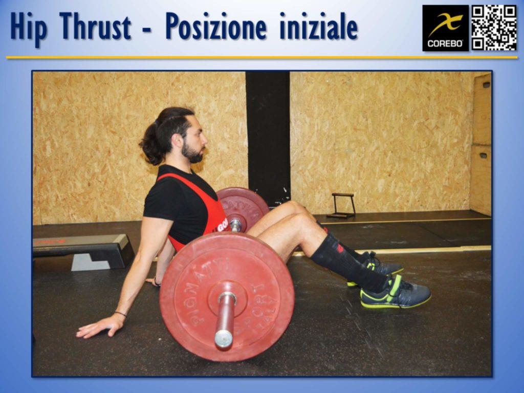 Hip Thrust La posizione iniziale all'Hip Thrust