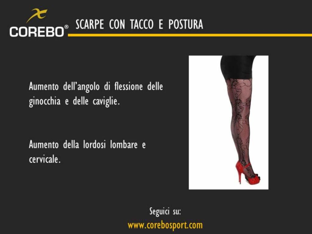 scarpe con tacco e postura