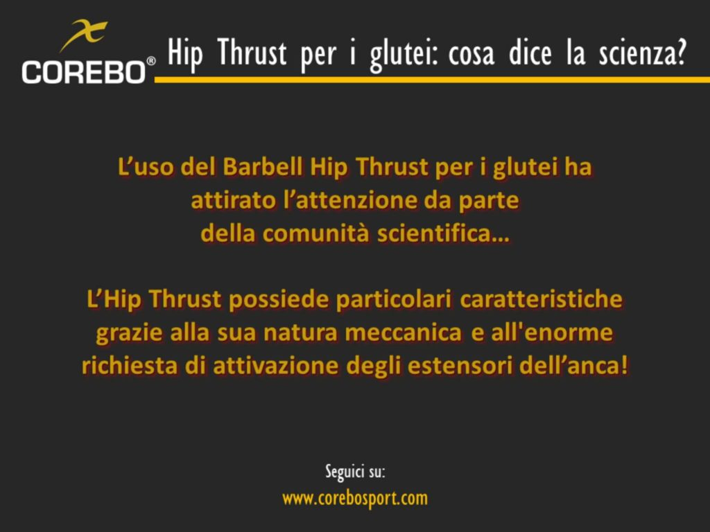 Hip Thrust per i Glutei
