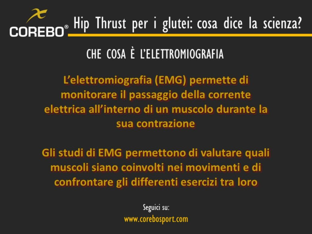 Elettromiografia e Hip Thrust
