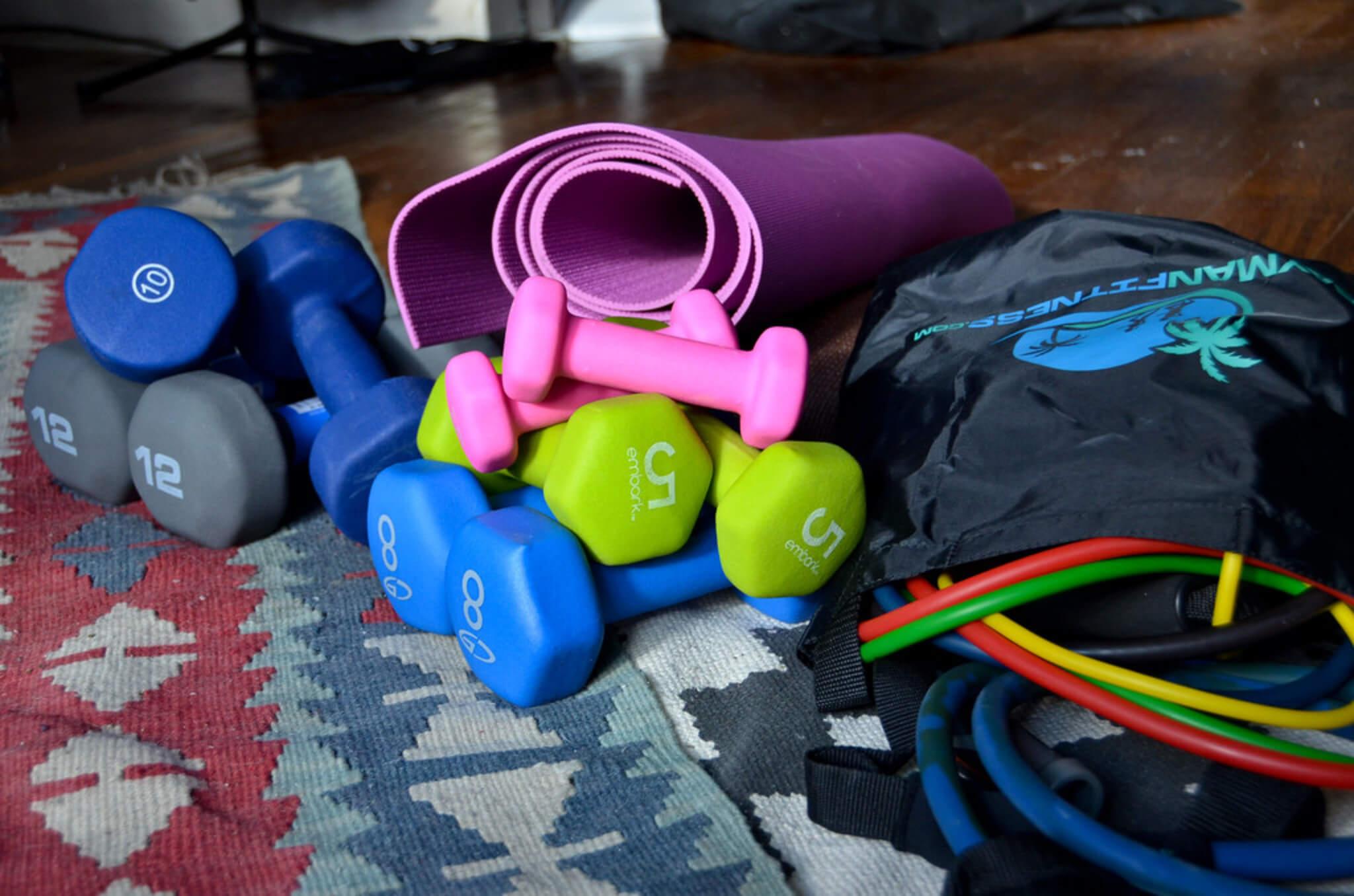 manubri per allenarsi a casa