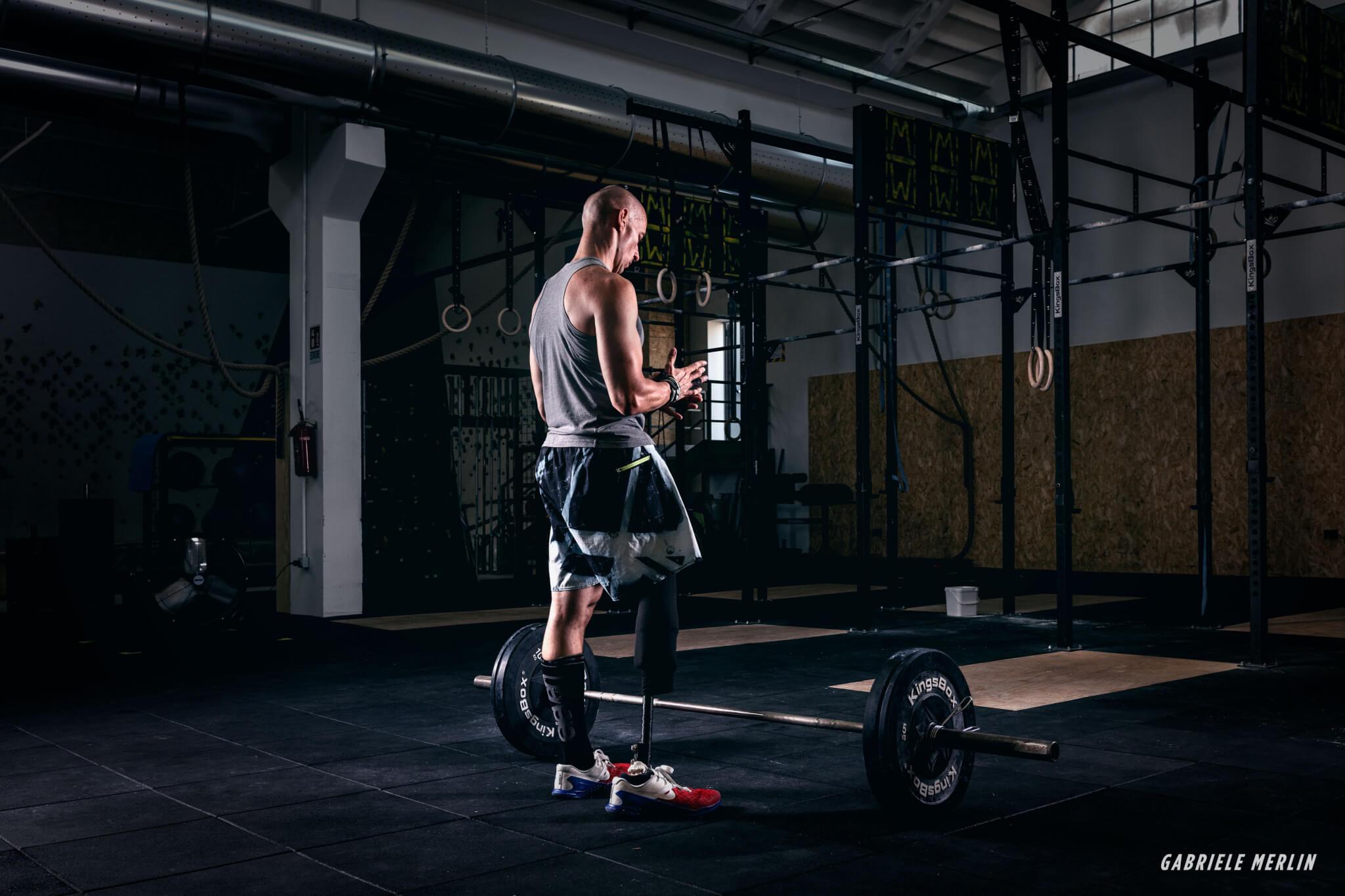 Protesica di gamba e sport