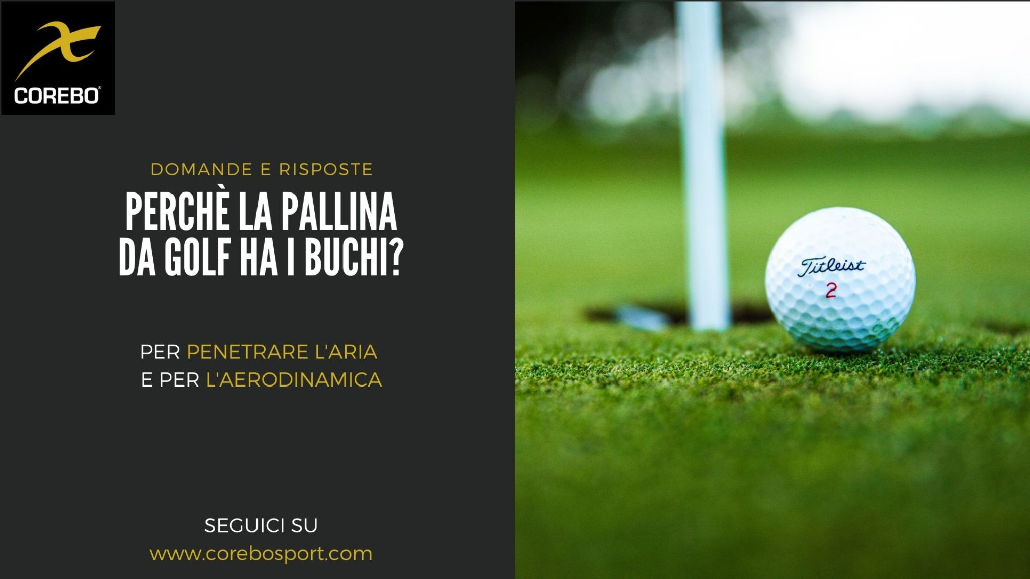 Perché la pallina da golf ha i buchi