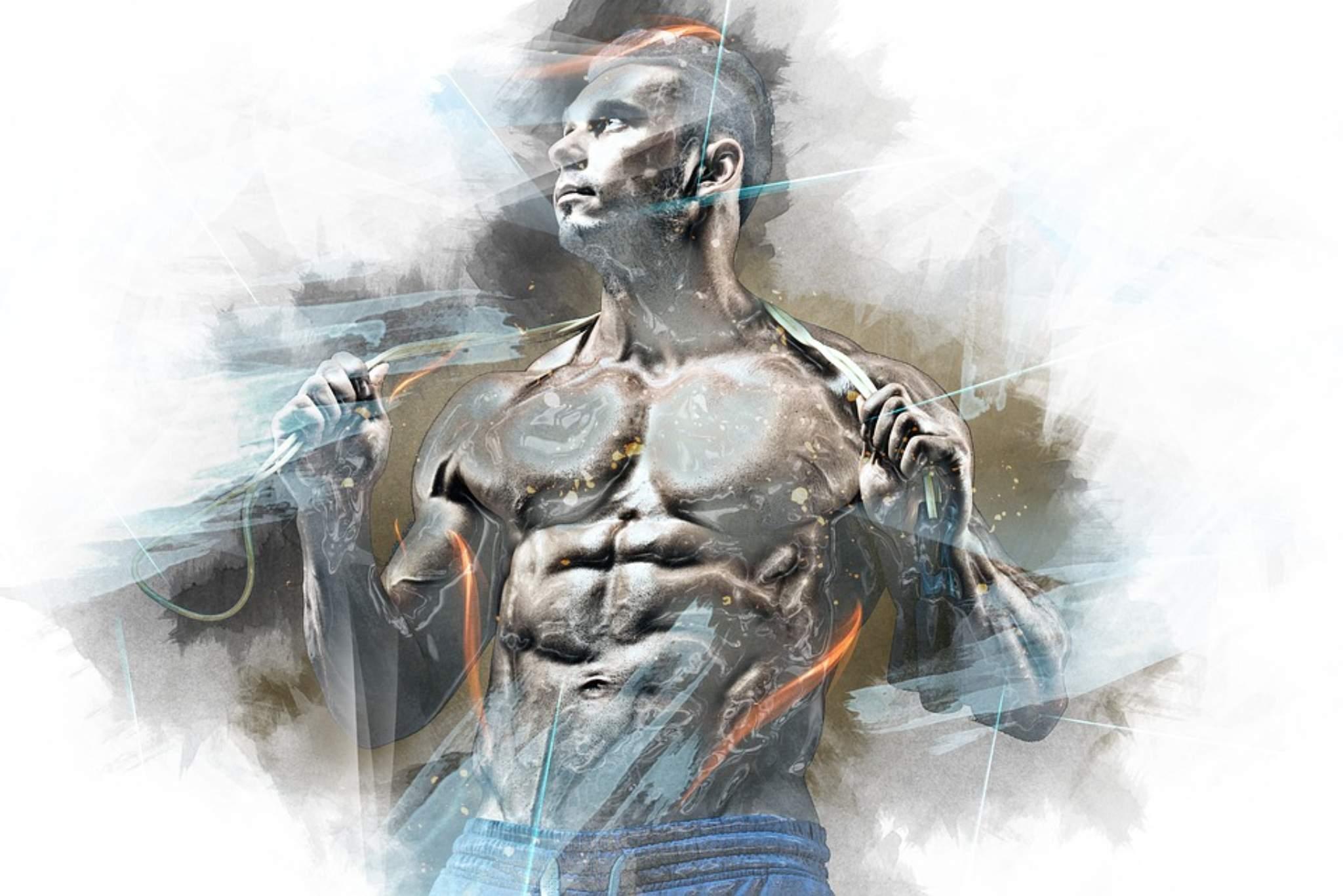 Preparazione di un bodybuilder natural